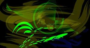 Πράσινο μάτι του Θεού Διανυσματική απεικόνιση