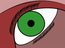 Πράσινο μάτι Στοκ Φωτογραφίες