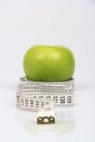 Πράσινο μέτρο μήλων και ταινιών Στοκ Εικόνες