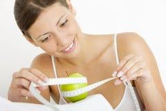 πράσινο μήλου γυναίκα στοκ φωτογραφίες με δικαίωμα ελεύθερης χρήσης