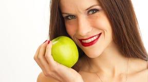 πράσινο μήλου γυναίκα στοκ φωτογραφίες