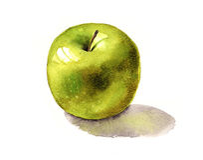 πράσινο μήλου λαμπρός Στοκ φωτογραφία με δικαίωμα ελεύθερης χρήσης