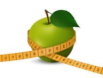 πράσινο μήλου μετρώντας τα απομονωμένος Στοκ Φωτογραφίες