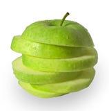 πράσινο μήλου φέτες Στοκ Φωτογραφίες