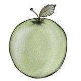πράσινο μήλου διανυσματική απεικόνιση
