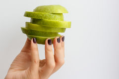 πράσινο μήλου εκμετάλλε& Στοκ Εικόνα