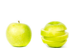 πράσινο μήλου λευκό Στοκ φωτογραφία με δικαίωμα ελεύθερης χρήσης