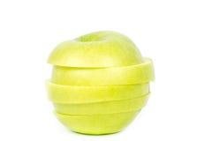 πράσινο μήλου λευκό Στοκ εικόνα με δικαίωμα ελεύθερης χρήσης