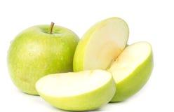 πράσινο μήλου λευκό Στοκ φωτογραφίες με δικαίωμα ελεύθερης χρήσης