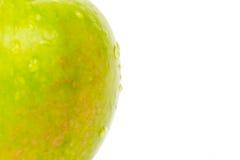 πράσινο μήλου λευκό Στοκ Εικόνα