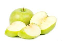 πράσινο μήλου λευκό Στοκ Φωτογραφίες