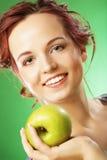 πράσινο μήλου ευτυχείς χ Στοκ Φωτογραφίες