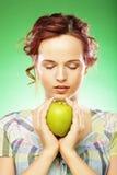 πράσινο μήλου ευτυχείς χ Στοκ εικόνα με δικαίωμα ελεύθερης χρήσης