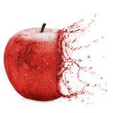 Πράσινο μήλου παφλασμός Στοκ Εικόνα