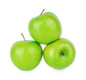 Πράσινο μήλο Γιαγιάδων Σμίθ που απομονώνεται στο λευκό Στοκ φωτογραφία με δικαίωμα ελεύθερης χρήσης