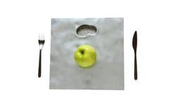 Πράσινο μήλο για τη διατροφή Στοκ Εικόνες