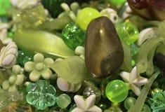 Πράσινο μίγμα χαντρών στοκ εικόνα