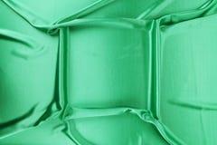 Πράσινο μετάξι με τις μαλακές πτυχές Στοκ φωτογραφία με δικαίωμα ελεύθερης χρήσης
