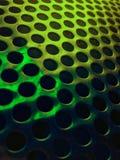 Πράσινο μεταλλικό διατρυπημένο υπόβαθρο Στοκ φωτογραφία με δικαίωμα ελεύθερης χρήσης