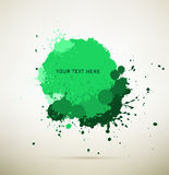 Πράσινο μελάνι splats Στοκ Εικόνες