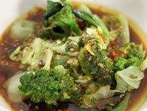 πράσινο μικτό λαχανικό σούπ&a στοκ εικόνα με δικαίωμα ελεύθερης χρήσης