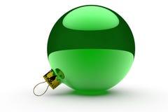Πράσινο μπιχλιμπίδι Χριστουγέννων διανυσματική απεικόνιση