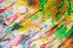Πράσινο μπλε ρόδινο ιώδες χρυσό σκιερό ζωηρό υπόβαθρο watercolor, σύσταση Στοκ Εικόνες
