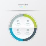 Πράσινο, μπλε, γκρίζο χρώμα προτύπων παρουσίασης κύκλων Στοκ Εικόνα