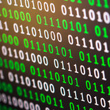 Πράσινο μπλε ψηφιακό χρώμα δυαδικού κώδικα στο μαύρο υπόβαθρο Στοκ εικόνες με δικαίωμα ελεύθερης χρήσης