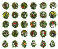 Πράσινο νεκρικό στεφάνι Στοκ φωτογραφίες με δικαίωμα ελεύθερης χρήσης