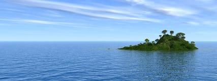 πράσινο νησί Στοκ φωτογραφία με δικαίωμα ελεύθερης χρήσης