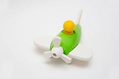Πράσινο ξύλινο αεροπλάνο παιχνιδιών Στοκ Φωτογραφία