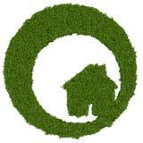 Πράσινο λογότυπο σπιτιών Στοκ Εικόνες