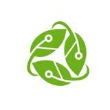 Πράσινο λογότυπο τεχνολογίας Στοκ φωτογραφία με δικαίωμα ελεύθερης χρήσης