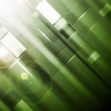 Πράσινο δονούμενο υπόβαθρο τεχνολογίας με τα στιλπνά τετράγωνα διανυσματική απεικόνιση