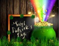Πράσινο δοχείο συμβόλων ημέρας του ST Πάτρικ s Στοκ εικόνες με δικαίωμα ελεύθερης χρήσης