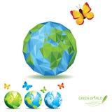 Πράσινο παγκόσμιο πολύγωνο Στοκ φωτογραφία με δικαίωμα ελεύθερης χρήσης