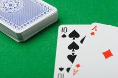 πράσινο παιχνίδι καρτών ανα&sig Στοκ φωτογραφία με δικαίωμα ελεύθερης χρήσης