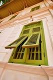 Πράσινο παράθυρο Στοκ Φωτογραφία