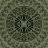 Πράσινο παραγμένο υπολογιστής fractal σχέδιο υποβάθρου Στοκ Εικόνες