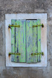 πράσινο παλαιό παράθυρο Στοκ φωτογραφία με δικαίωμα ελεύθερης χρήσης