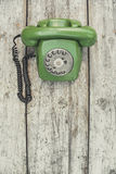 πράσινο παλαιό τηλέφωνο Στοκ Φωτογραφία