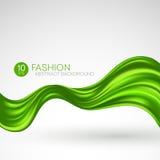 Πράσινο πετώντας ύφασμα μεταξιού background computer fashion imitation screen επίσης corel σύρετε το διάνυσμα απεικόνισης Στοκ φωτογραφία με δικαίωμα ελεύθερης χρήσης