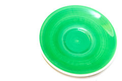 Πράσινο πιάτο χρώματος Στοκ φωτογραφία με δικαίωμα ελεύθερης χρήσης