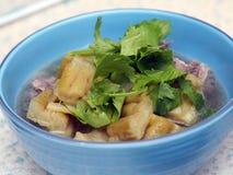 Πράσινο πικρό πεπόνι ή πικρή κολοκύθα με τη σούπα μπριζολών Στοκ φωτογραφία με δικαίωμα ελεύθερης χρήσης