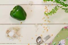 πράσινο πιπέρι ή πιπέρι κουδουνιών Στοκ φωτογραφίες με δικαίωμα ελεύθερης χρήσης