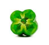 Πράσινο πιπέρι που απομονώνεται σε ένα άσπρο υπόβαθρο Στοκ φωτογραφίες με δικαίωμα ελεύθερης χρήσης