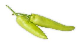 Πράσινο πιπέρι που απομονώνεται σε ένα λευκό Στοκ φωτογραφία με δικαίωμα ελεύθερης χρήσης
