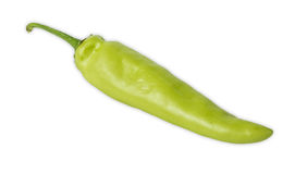 Πράσινο πιπέρι που απομονώνεται στην άσπρη ανασκόπηση Στοκ εικόνα με δικαίωμα ελεύθερης χρήσης