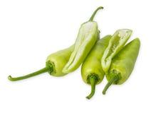 Πράσινο πιπέρι που απομονώνεται στην άσπρη ανασκόπηση Στοκ Εικόνα